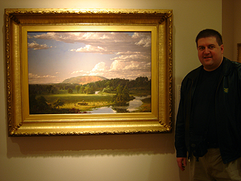Hudson River School painting entitled 'West Rock, New Haven' by Frederic Edwin Church