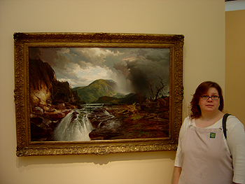 Hudson River School painting entitled 'The Wilds of Lake Superior' by Thomas Moran