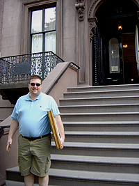 John O'Keefe standing outside the Salmagundi Club