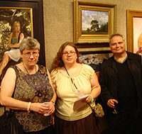 Salmagundi Club reception - Joan Shackford, Jennifer O'Keefe, and Ernie Sterlacci