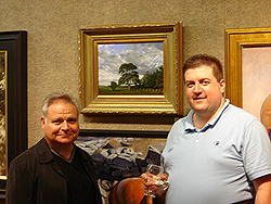 Salmagundi Club reception - Ernie Sterlacci and John O'Keefe