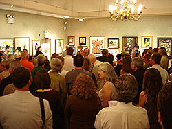 Salmagundi Club awards - guest assemble to view award ceremony