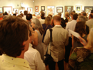 Salmagundi Club awards - guest viewing award ceremony