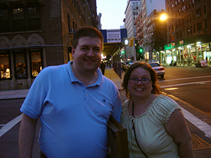 Jennifer and John O'Keefe in New York City
