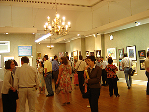 Salmagundi Club - July 10th Reception - more guests arriving