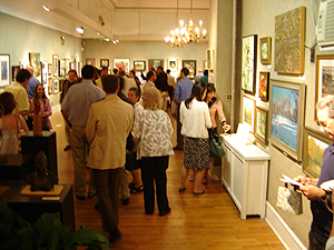 Salmagundi Club - July 10th Reception - guests start arriving