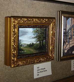 John O'Keefe's painting The Road Home at The Salmagundi Club