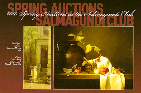 The Salmagundi Club's 2010 Spring Exhibition and Auction - brochure front