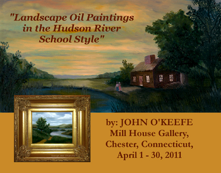 Landscape Oil Painting in the Hudson River School Style invitation - front