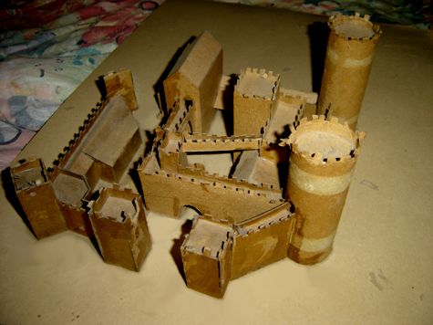 John O'Keefe's castle made from cardboard, created when he was ten or eleven years old