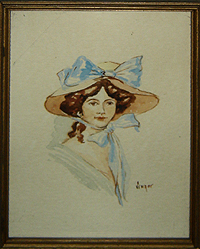 Watercolor Portrait by Kathy Singer