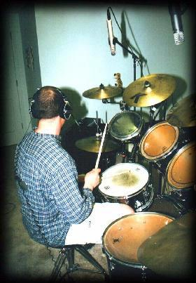 John O'Keefe's recording studio - Room One session - Jay Moore, drums