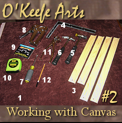 Tutorial for stretching Giclee on canvas onto 16x20 stretcher bars by John O'Keefe Jr.