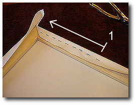 16 x 20 Canvas Stretching - Step 37 - Stretch and staple to end of first stretcher bar