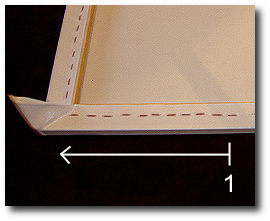 16 x 20 Canvas Stretching - Step 44 - Inspect that all staples are fully seated