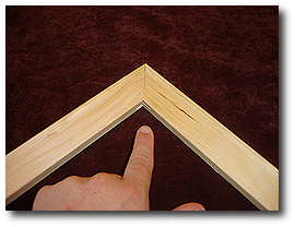 16 x 20 Canvas Stretching - Step 6 - Ensure stretcher bars have a snug fit