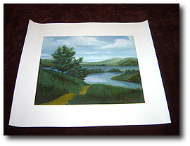 8 x 10 Canvas Stretching - Step 10 - Inspect canvas print for damage before proceeding