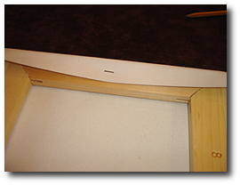 8 x 10 Canvas Stretching - Step 20 - First staple should be in the center of stretcher bar