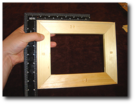8 x 10 Canvas Stretching - Step 6 - Fully seat square onto stretcher bar corners