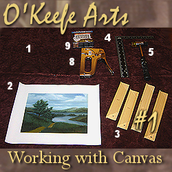 Tutorial for stretching Giclee on canvas onto 8x10 stretcher bars by John O'Keefe Jr.