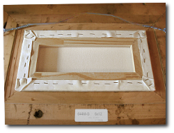 Framing a Painting - Step 2 - Fit Painting into Frame Rabbet