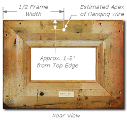 Framing a Painting - Step 2 - Measure Apex of Hanging Wire