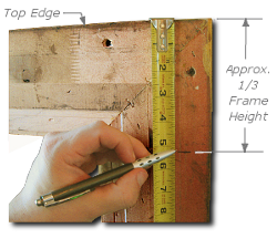 Framing a Painting - Step 3 - Measure Vertical D-Ring Position