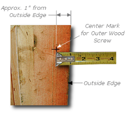 Framing a Painting - Step 4 - Measure Horizontal D-Ring Position