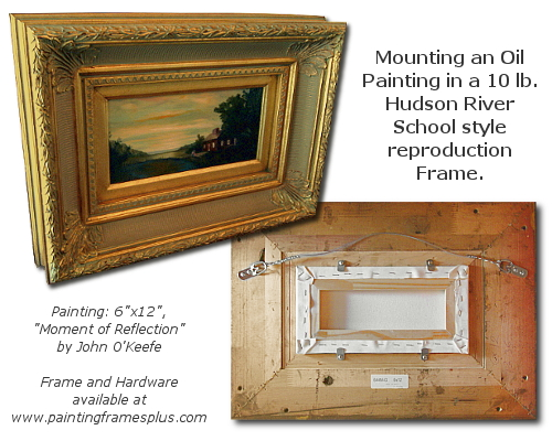 Framing a painting tutorial by John O'Keefe