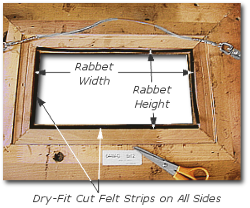Framing a Painting - Step 2 - Cut Fell Strips to Rabbet Lengths