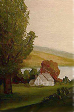 Painting tutorial for 'Autumn on the Hudson revisited' by John O'Keefe Jr. - day 3