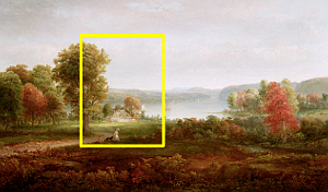 Reference painting by Thomas Dought entitled Autumn on the Hudson