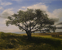 Painting tutorial for 'Big Cork Tree' by John O'Keefe Jr. - Day 2 Hour 10