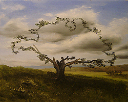 Painting tutorial for 'Big Cork Tree' by John O'Keefe Jr. - Day 2 Hour 8
