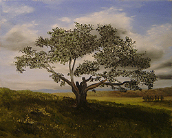 Painting tutorial for 'Big Cork Tree' by John O'Keefe Jr. - Day 2 Hour 9