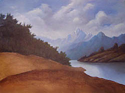 Painting tutorial for 'Lakeside Path' by John O'Keefe Jr. - Day 5