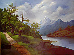 Painting tutorial for 'Lakeside Path' by John O'Keefe Jr. - Day 8