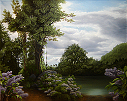 Painting tutorial for 'Lilac Pond' by John O'Keefe - Day 11