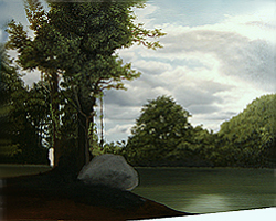 Painting tutorial for 'Lilac Pond' by John O'Keefe - Day 7