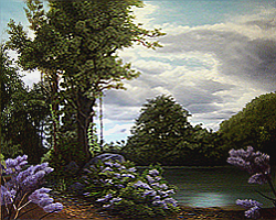 Painting tutorial for 'Lilac Pond' by John O'Keefe - Day 9