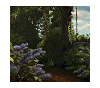 Finished oil painting - Detail 1: 'Lilac Pond' by John O'Keefe Jr.