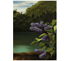 Finished oil painting - Detail 2: 'Lilac Pond' by John O'Keefe Jr.