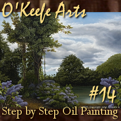 Step-By-Step Tutorial: Painting 'Lilac Pond' by John O'Keefe Jr.