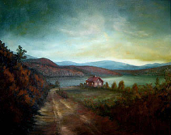 Painting tutorial for 'Peaceful Connecticut Valley in Autumn' by John O'Keefe Jr. - Day 5