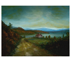 Finished oil painting: 'Peaceful Connecticut Valley in Autumn' by John O'Keefe Jr.
