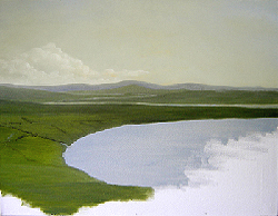 Painting tutorial for 'River Through the Adirondack's' by John O'Keefe - Day 1
