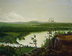 Painting tutorial for 'River Through the Adirondack's' by John O'Keefe - Day 10