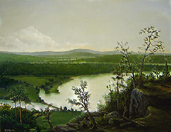 Painting tutorial for 'River Through the Adirondack's' by John O'Keefe Jr. - Day 11