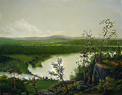 Painting tutorial for 'River Through the Adirondack's' by John O'Keefe Jr. - Day 12