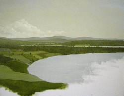 Painting tutorial for 'River Through the Adirondack's' by John O'Keefe Jr. - Day 2